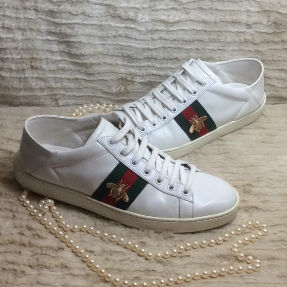 8c956e938 Gucci Shoes   Ace Sneaker Leather Womens Size 385   Poshmark